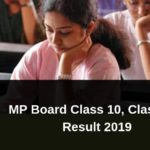 MP Board 10th and 12th Result 2019