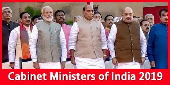 Cabinet Ministers India 2019