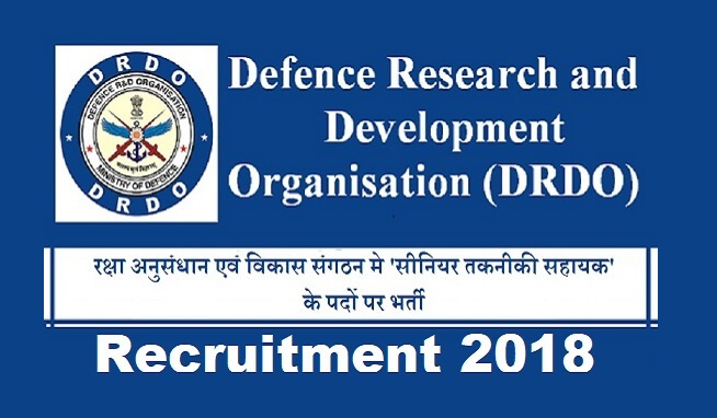 DRDO recruitment 2018 - Vacancies 127