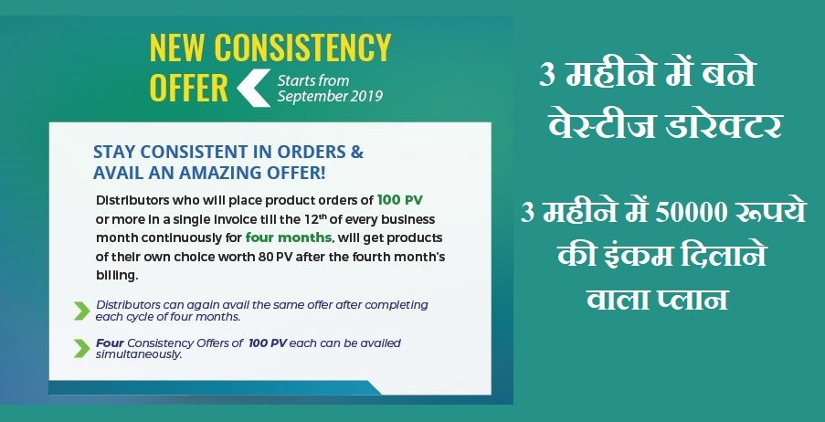 Vestige 100 PV Consistency Offer