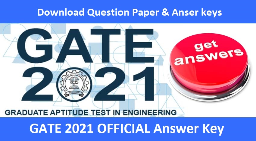 ✔️ GATE Answer Key 2021 Official